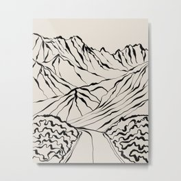 Mountains know the secret Metal Print