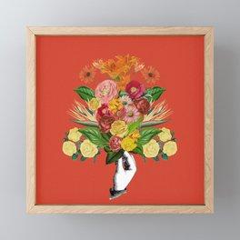 Botanical Red Framed Mini Art Print