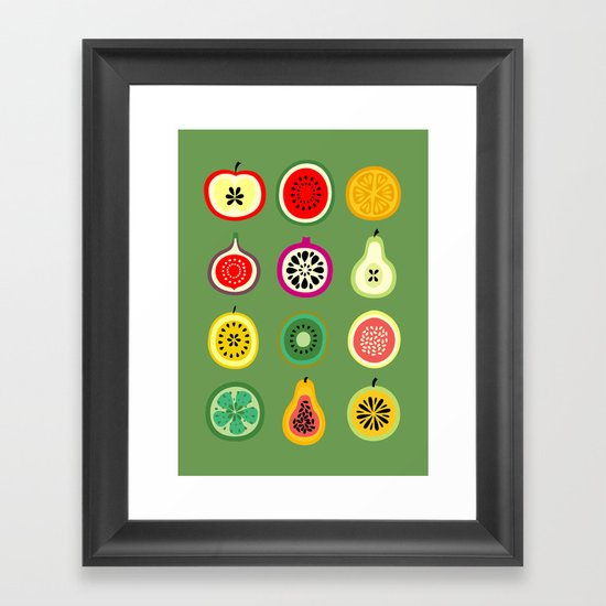 Banca de Frutas Framed Art Print