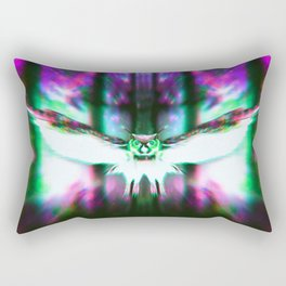 Space Owl - RG_Glitch Series Rectangular Pillow