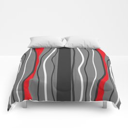 Abstract Graphic Design Lines Comforters