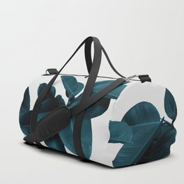 Indigo Plant Leaves Duffle Bag