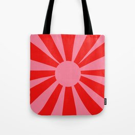 Pink Red Summer Sun Tote Bag