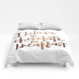 i believe in chocolate Comforters