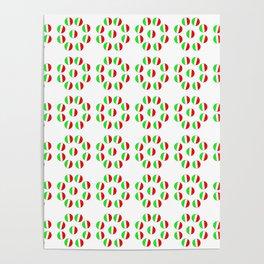 flag of Italy 6- Italy,Italia,Italian,Latine,Roma,venezia,venice,mediterreanean,Genoa,firenze Poster