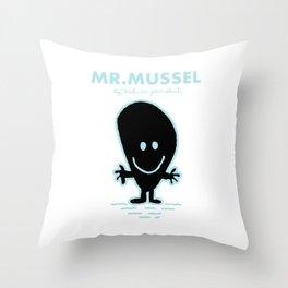 Mr.Mussel Throw Pillow