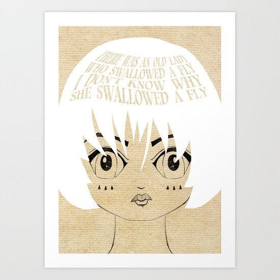She Died, Of Course - Lessons From Mother Goose Series Art Print