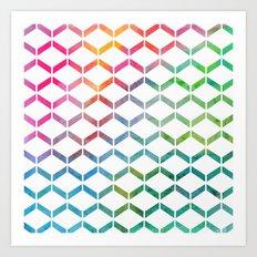 Rainbow Geometric Art Print