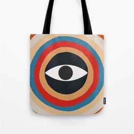 Third Eye Retro Colors Circle Tote Bag