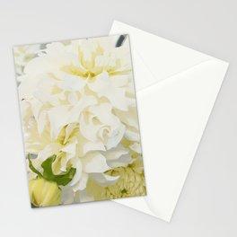 Cream Peonies   Nadia Bonello  Stationery Cards