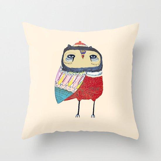 Sweet Owl. owl, owl art, owl print, owls Throw Pillow
