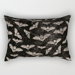 Vintage Halloween Bat pattern Rectangular Pillow