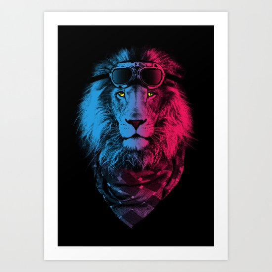 lion rider Art Print