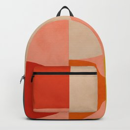 geometry shape mid century organic blush curry teal Backpack