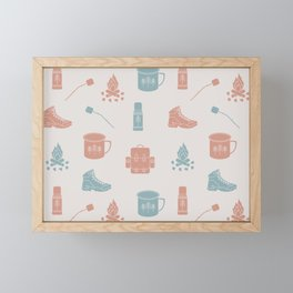 Camping (Orchard) Framed Mini Art Print