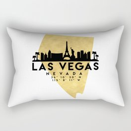 LAS VEGAS NEVADA SILHOUETTE SKYLINE MAP ART Rectangular Pillow
