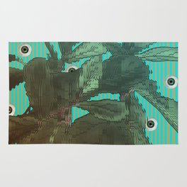 distorted plant sees everything Rug
