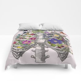 Ribs and flowers Comforters