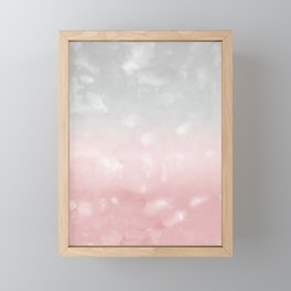 Touching Blush Gray Abstract Painting #1 #ink #decor #art #society6 Framed Mini Art Print