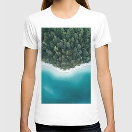 Green and Blue Symmetry - Landscape Photography T-shirt