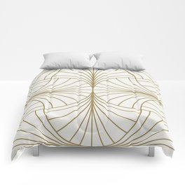 Diamond Series Inter Wave Gold on White Comforters