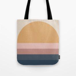 Neutral 70's Minimal Sunset Tote Bag
