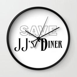 Save JJ's Diner Wall Clock