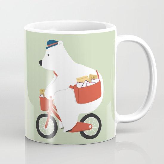Polar bear postal express Mug