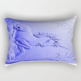 Purple Unicorn Solitude Rectangular Pillow