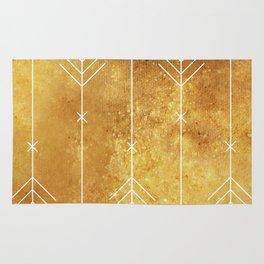 Golden geometric arrows Rug