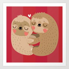 Sloth love Art Print