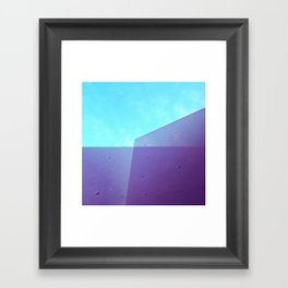 sky and walls Framed Art Print