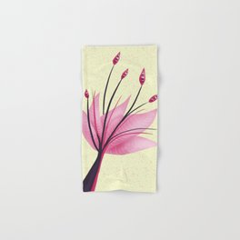 Pink Abstract Water Lily Flower Hand & Bath Towel