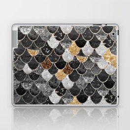 REALLY MERMAID BLACK GOLD Laptop & iPad Skin
