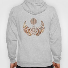 Angel Wings Metatron Flower of Life T-shirt Hoody