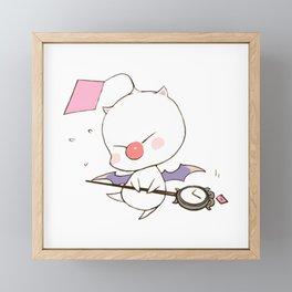Struggling Mog Framed Mini Art Print