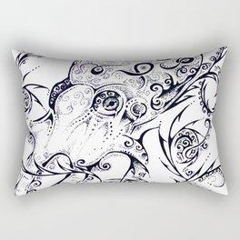 Calligraphy Octopus Rectangular Pillow