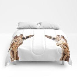 Funny Giraffe Portrait Art Print, Cute Animals, Safari Animal Nursery, Kids Room Poster, Wall Art Comforters