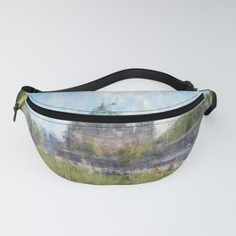 Berlin, Mitte cityscape painting Fanny Pack