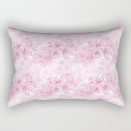 Pink Cherry Blossom Rectangular Pillow
