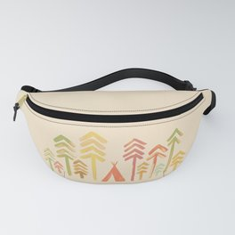 Tepee in the forest Fanny Pack