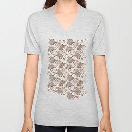 Opossum and Roses Unisex V-Neck