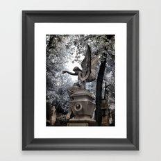 Cemetery Angel - infrared Framed Art Print