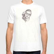No.5 Fashion Illustration Series White MEDIUM Mens Fitted Tee