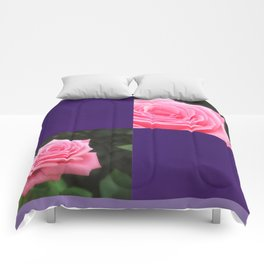 Pink Roses in Anzures 4 Blank Q9F0 Comforters