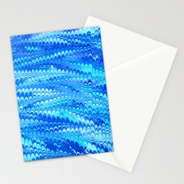 Marbled Non-pareil Blue Stationery Cards