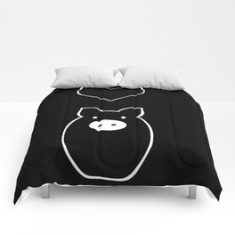 Monochrome Pig in Love Comforters