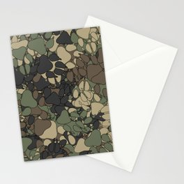Wolf paw prints camouflage Stationery Cards