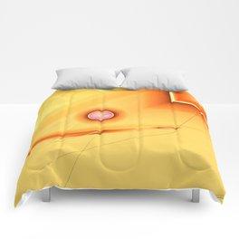 Geometric abstract orange no. 1 Comforters