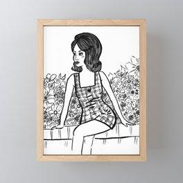 Wonderland (Black and White) Framed Mini Art Print